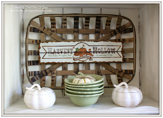 Decor Steals Tobacco Basket-French Country- Farmhouse-Fall Dining Room-From My Front Porch To Yours