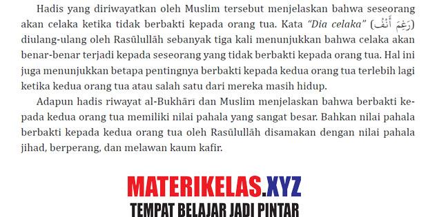 Rangkuman Materi Kelas 11 Al-Qur'an Hadits Kurikulum 2013