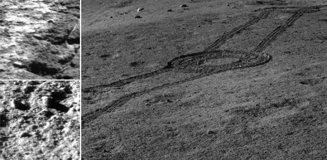 This is an image captured by Chang'E 4 showed the landscape near the landing site. Credit: NAOC/CNSA