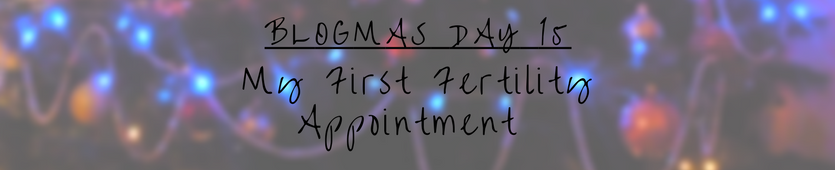 Blogmas Day 15 - My First Fertility Appointment Banner