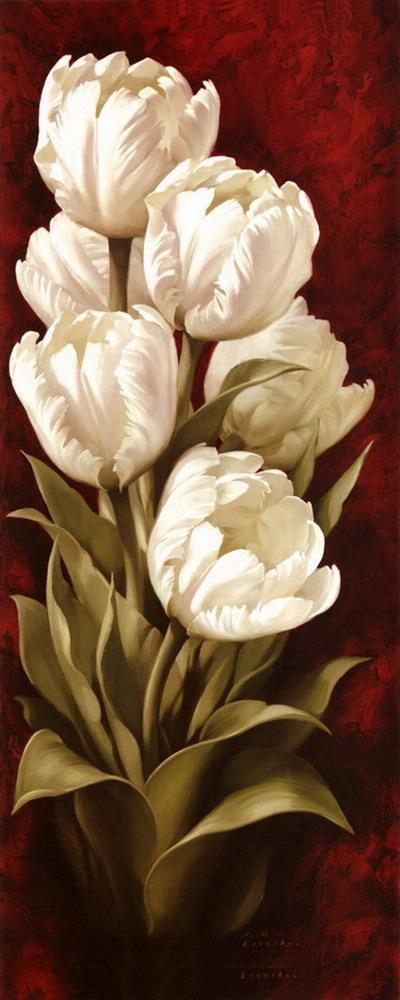 Cuadros modernos formatos verticales cuadros en variedad de flores - Cuadros verticales modernos ...