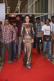 Actress Catherine Tresa in Golden Skin Tight Backless Gown at Gautam Nanda music launchi ~ Exclusive Celebrities Galleries 118.JPG