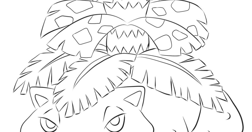 Venusaur Coloring Pages - Free Pokemon Coloring Pages