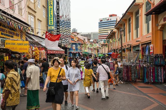 singapur, barvy, budovy, cestování, svět