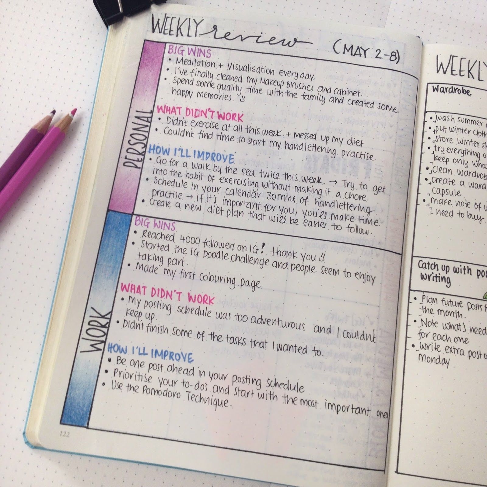 Sharing with you 7 things that I've learned during my first year of bullet journaling - www.chrisitna77star.co.uk