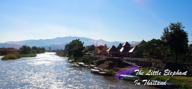 View over the Kok River at Tha Ton - North Thailand