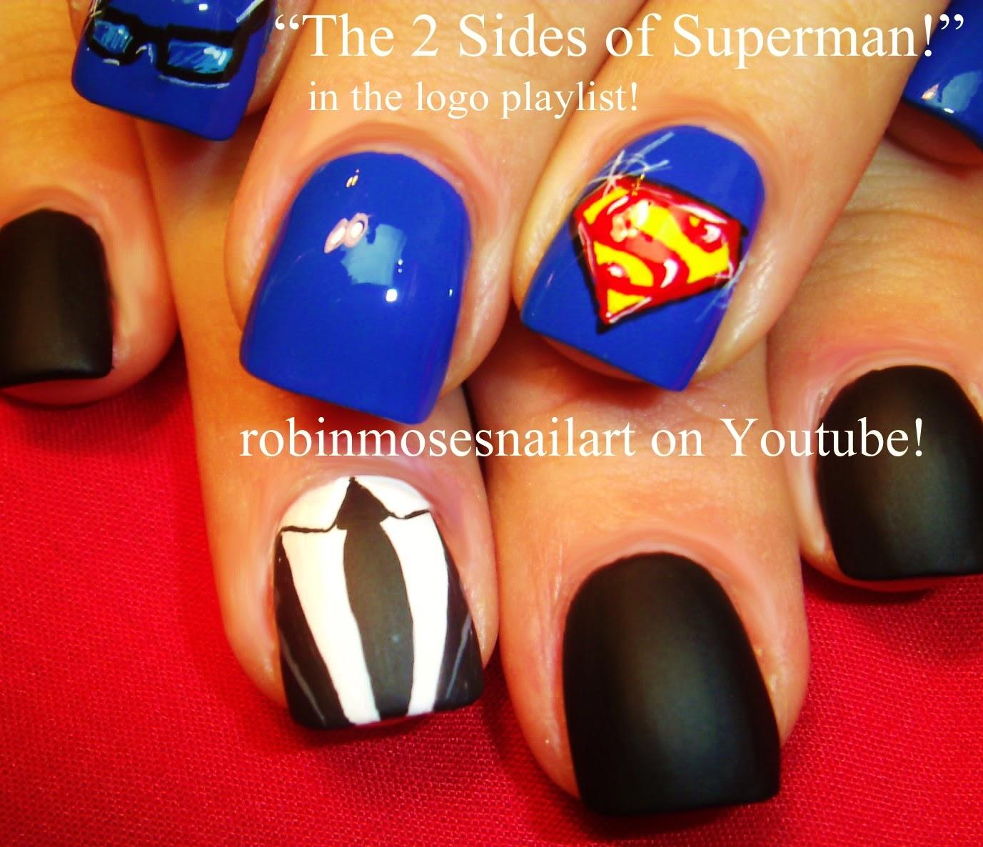 Nail Art By Robin Moses Nail Art Superman Nail Art Superman