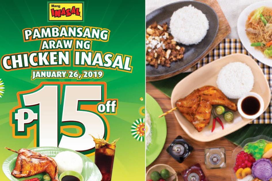 Mang Inasal: Pambansang Araw ng Chicken Inasal - Get 15 pesos OFF