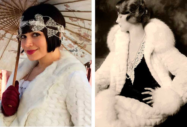 Casaco anos 20: novela e foto da época