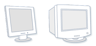LCD Monitor (Left); CRT Monitor (Right)