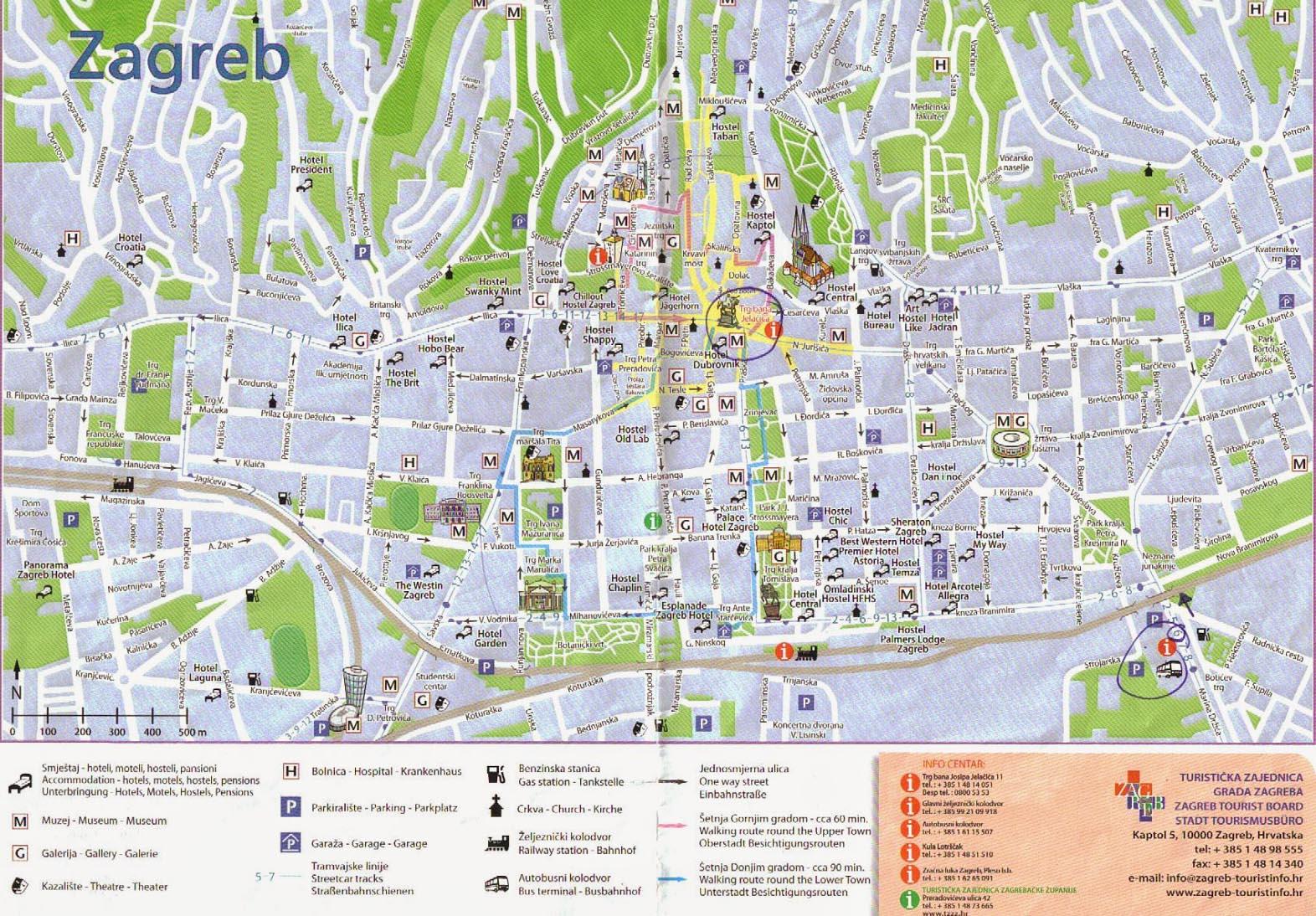 zagreb mapa Zagreb map zagreb mapa