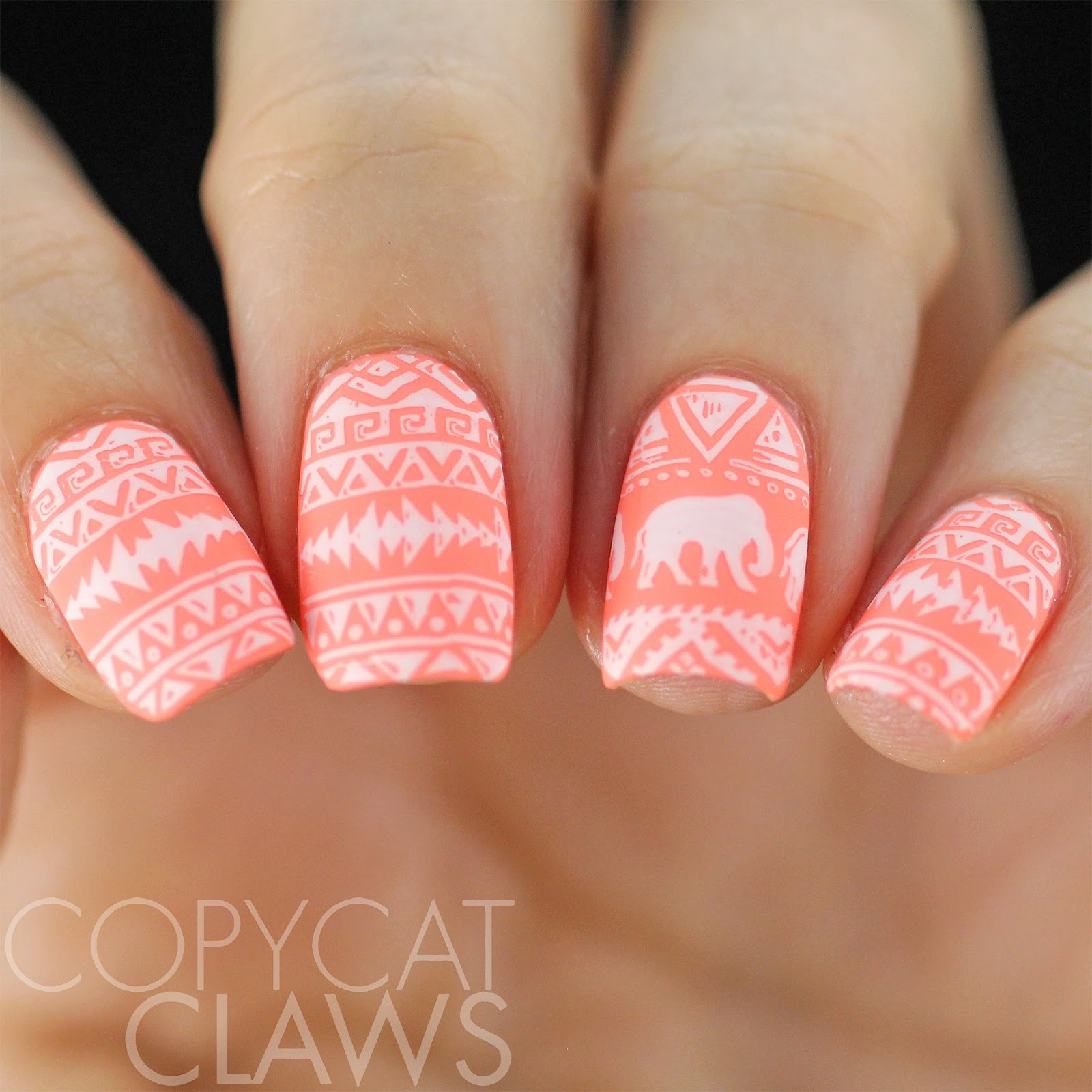 Copycat Claws 40 Great Nail Art Ideas Coral And White