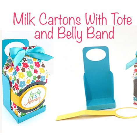 Milk Cartons with Tote and Belly Band