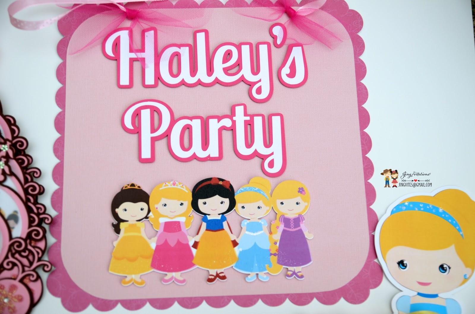princess party door sign & Jingvitations: door sign