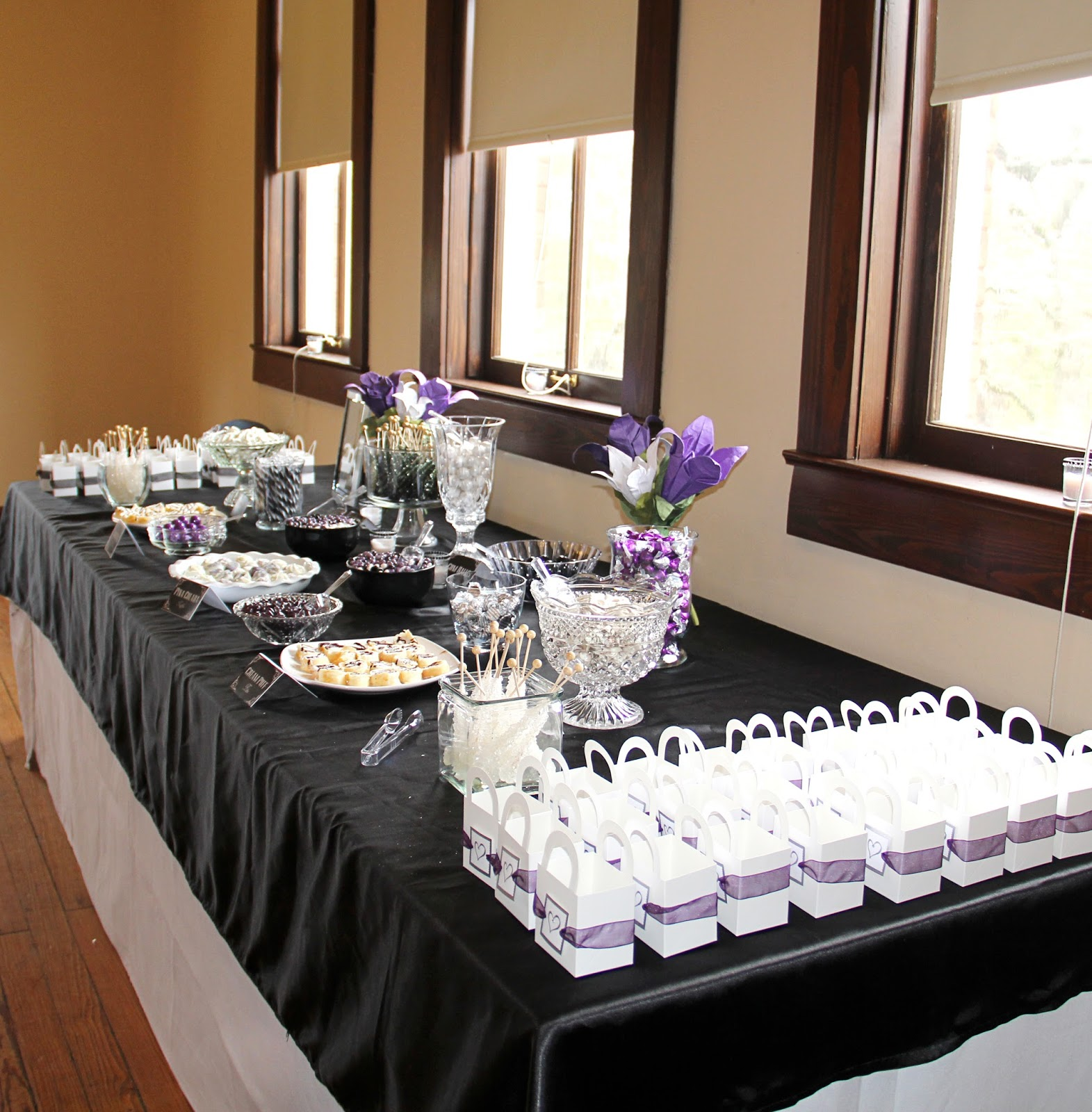 Purple Wedding Reception Ideas: Southern Blue Celebrations: Black, White & Purple Wedding