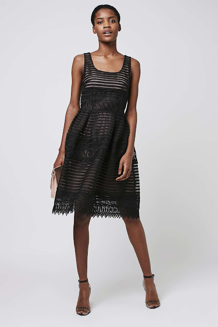 topshop black mesh dress, self portrait look dress,