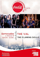 Concierto de The Vall y The Flaming Dolls en Barracudas