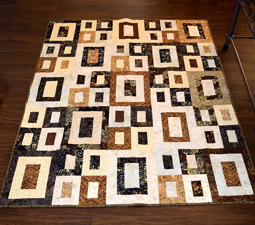 Framed Rectangles Quilt made by Cat-on-a-mac from Quilting Board, The Pattern by Mary Johnson of MaryQuilts