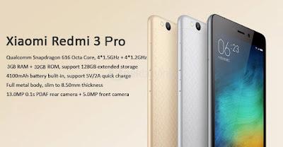 Review Harga Xiaomi Redmi 3 Pro