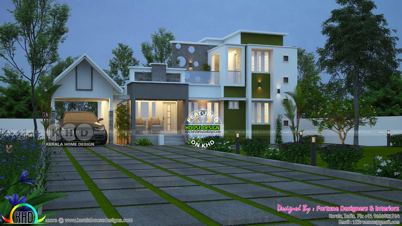 Beautiful modern 3 bedroom house 2300 sq-ft - Kerala home ...