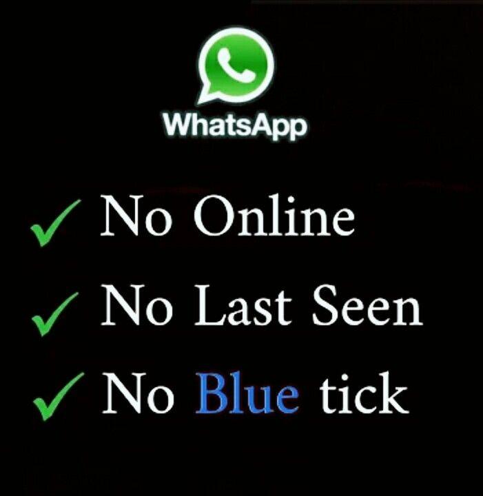 Whatsapp No Online Status No Bluetick No Lastseen Trick