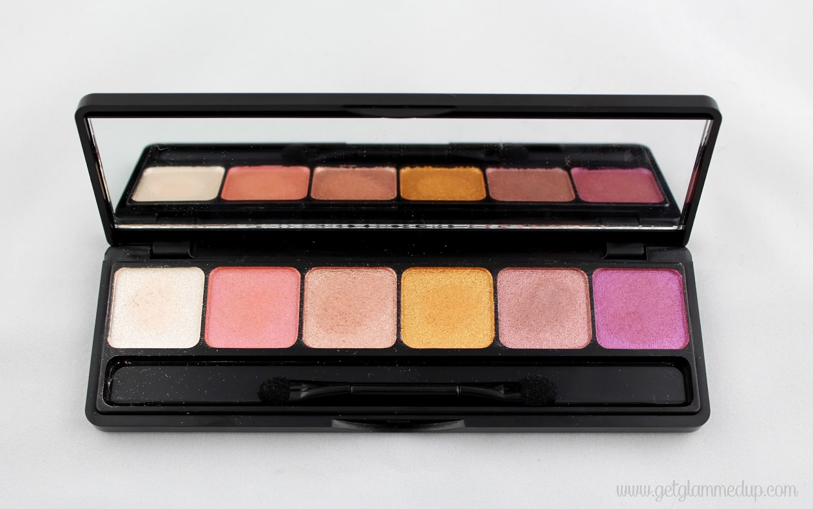 elf studio prism palette in sunset