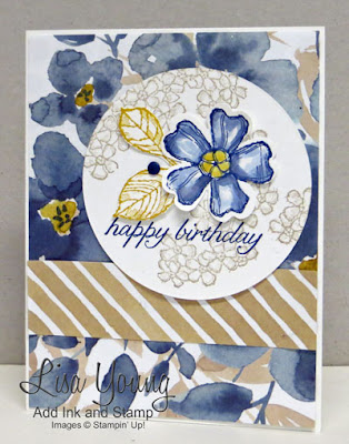 Stampin' Up! Birthday Blossoms stamp set. Handmade birthday card by Lisa Young, Add Ink and Stamp