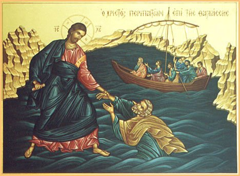Image result for jesus walks on the water great art