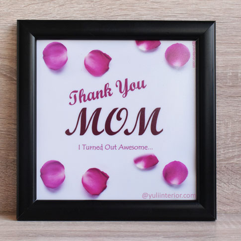 Thank You Mom, Mothers Day Gift Wall Frame in Port Harcourt, Nigeria