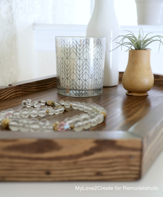 easy DIY hexagon tray