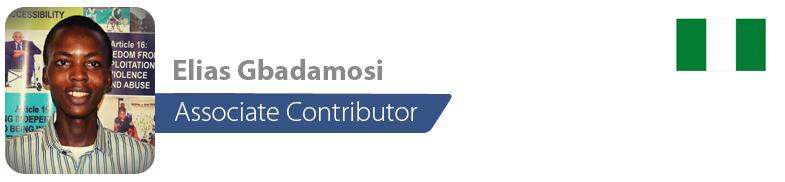 Elias Gbadamosi, IYF Associate Contributor