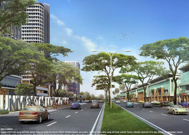Potongan samping Icon Business Park