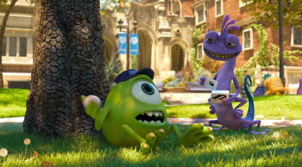 Monsters University 2013 film poster animatedfilmreviews.filminspector.com