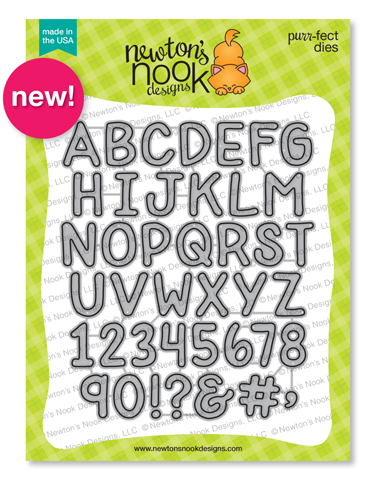 Essential Alphabet Die Set by Newton's Nook Designs #newtonsnook #handmade