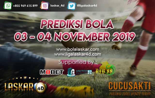 PREDIKSI BOLA JITU TANGGAL 03 – 04 NOVEMBER 2019