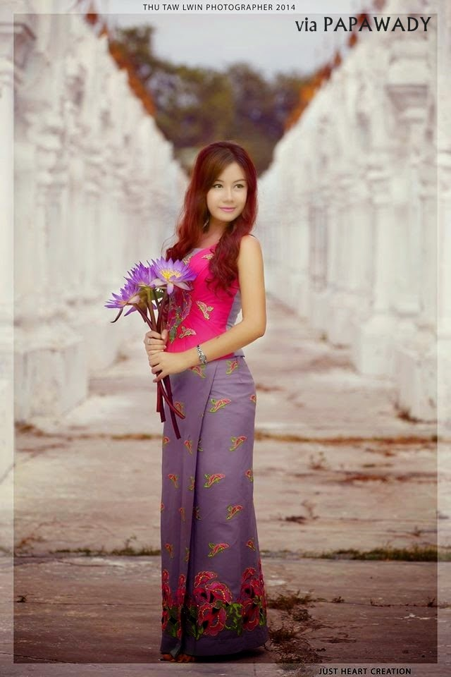 4 Myanmar Celebrities in Beautiful Myanmar Dress Fashion