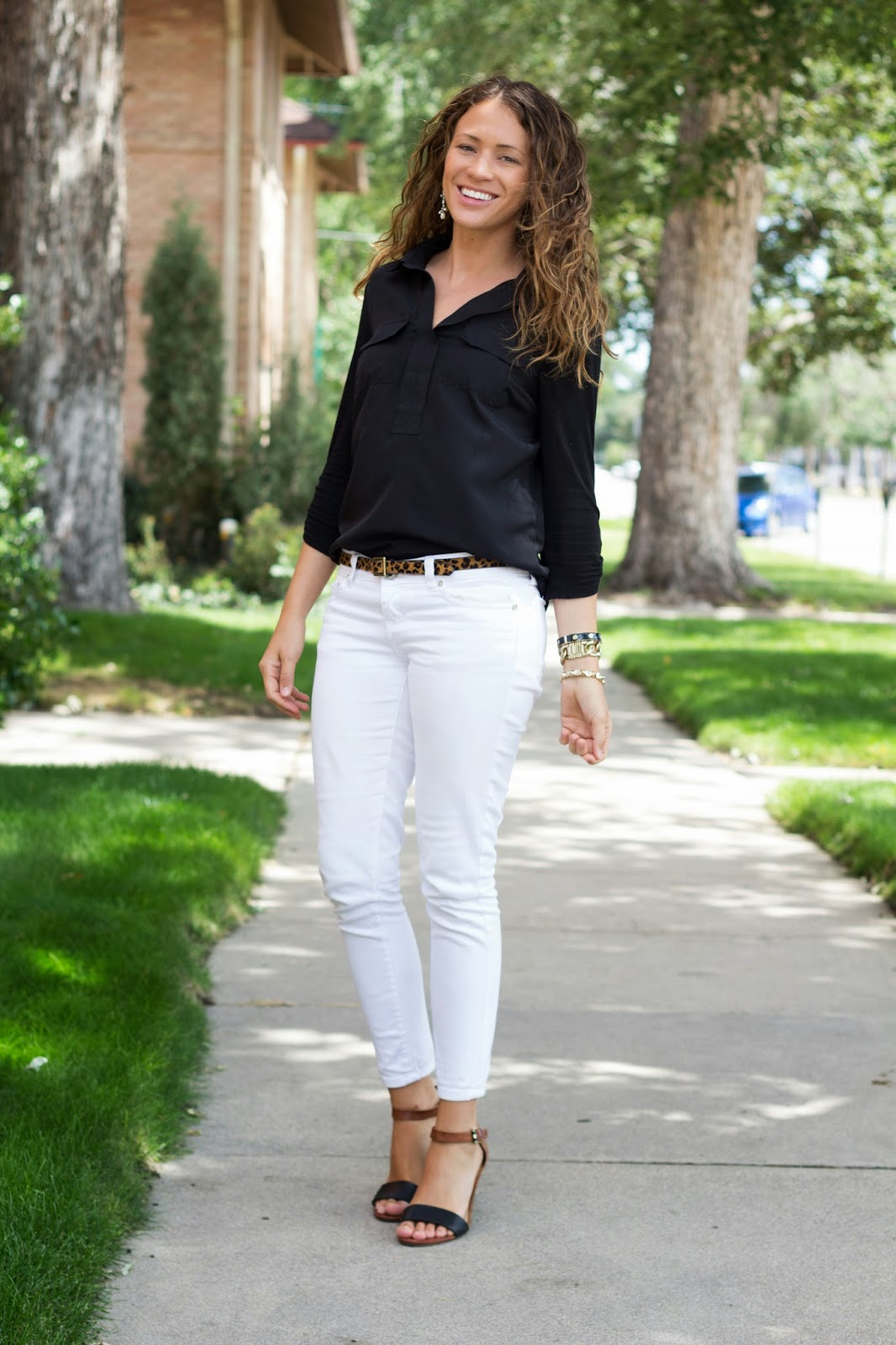 Just A Touch: Black And White Outfit by Colorado fashion blogger Eat Pray Wear Love
