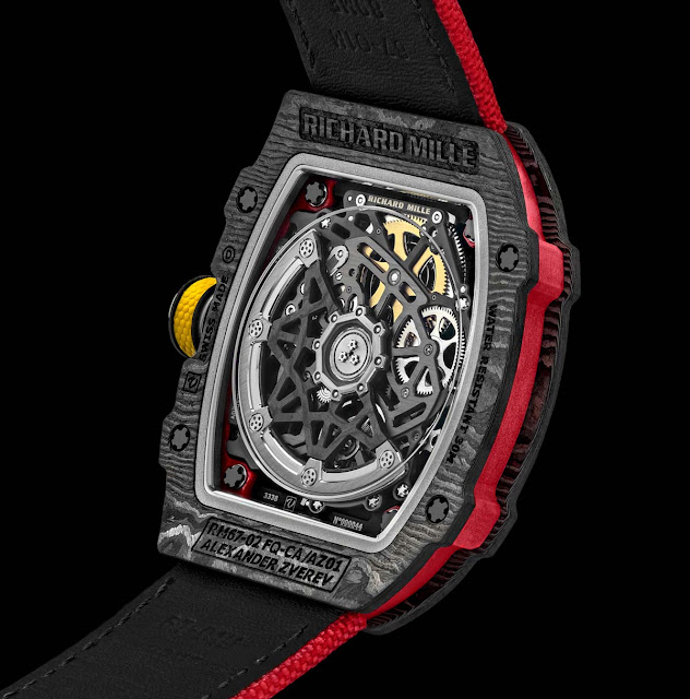 The back case of the Richard Mille RM 67-02 Alexander Zverev
