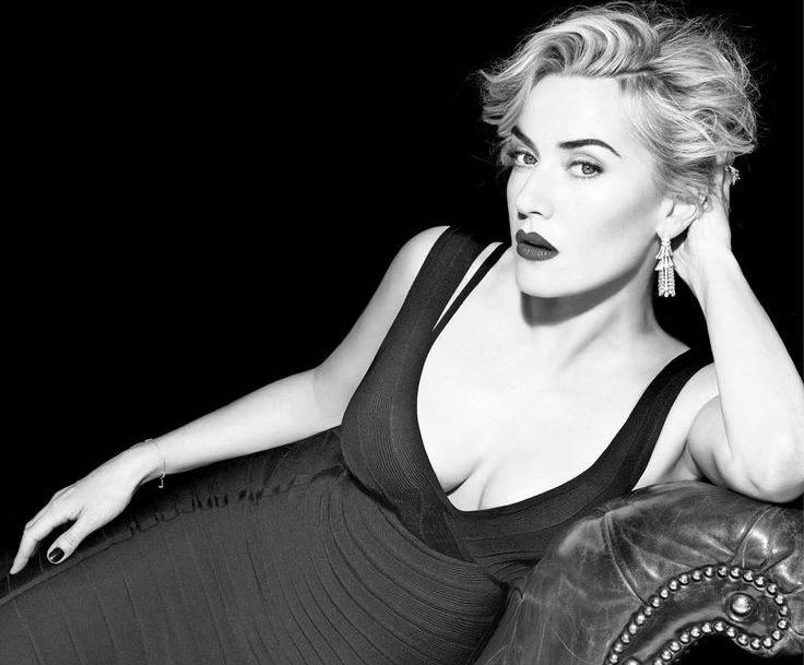 Kate Winslet Beautiful Black&White Photography