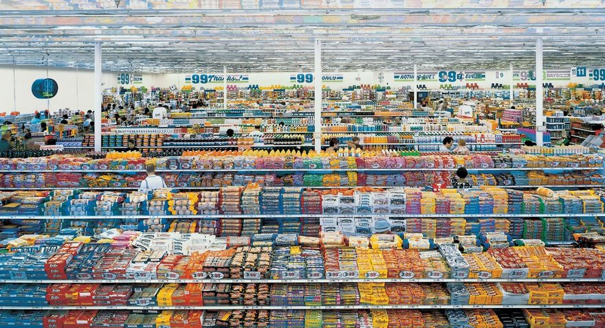 #54 99 Cent, Andreas Gursky, 1999 - Top 100 Of The Most Influential Photos Of All Time