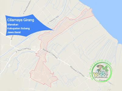 PETA : Desa Cilamaya Girang, Kecamatan Blanakan