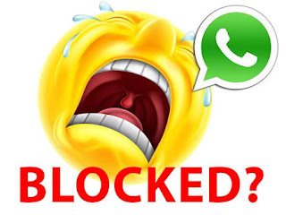 Blocked whatsapp
