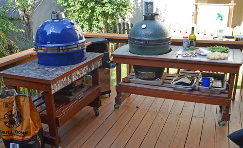 Big Green Egg table, Grill Dome table, Kamado Joe table