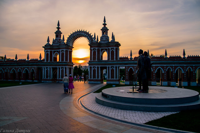 Солнце в арке Царицыно