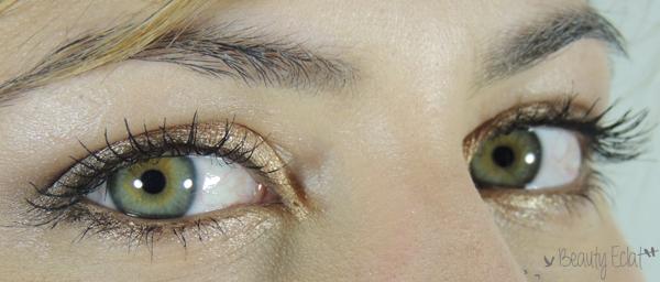 tutoriel maquillage neutre lumineux yeux verts