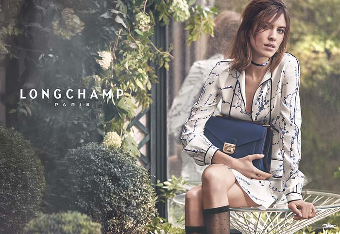 Longchamp Spring/Summer 2017 Campaign featuring Alexa Chung