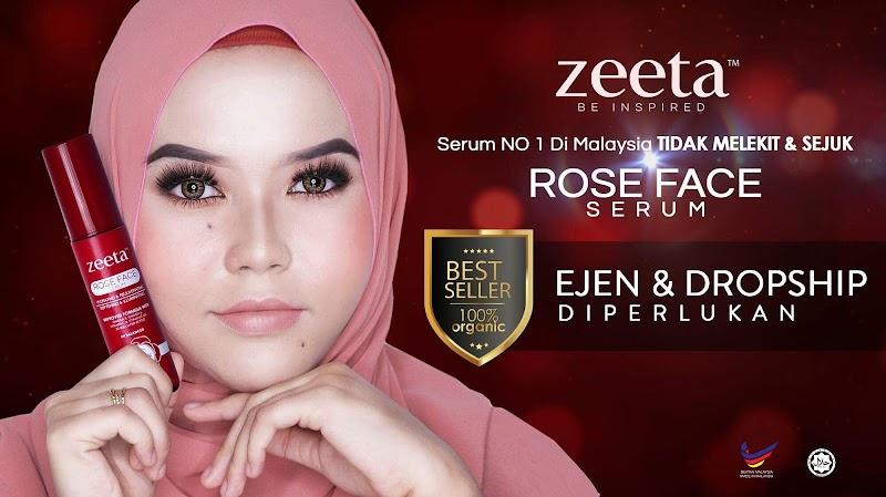 Rose Face Serum Zeeta Produk Terbaik Untuk Hilangkan Jeragat dan Parut Jerawat