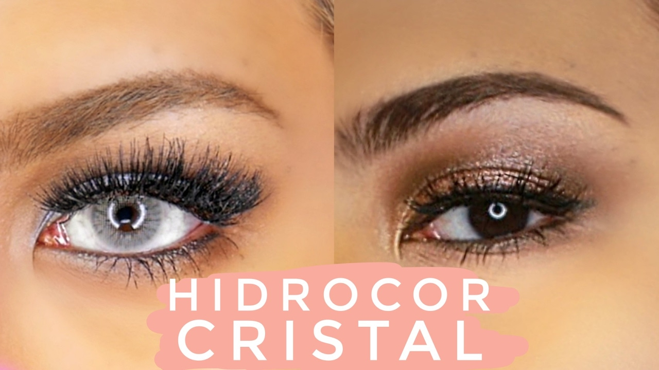 Solotica Hidrocor Cristal Contacts On Dark Brown Asian