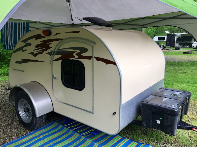 This teardrop trailer was one of seven made by an enthusiast.