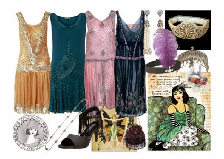 1920s style flapper dresses